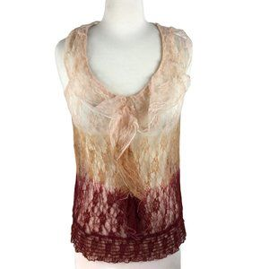 Charlotte Russe Lace Ombre Tank Top, Size S
